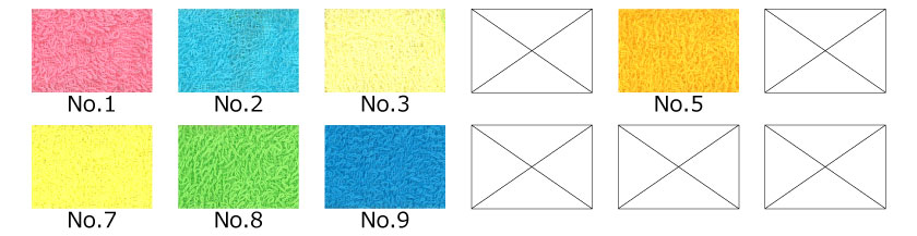 日本製汎用品カラータオル色見本