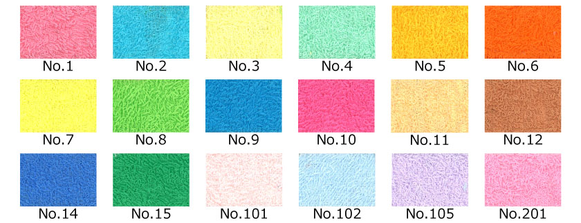 日本製メーカー品カラータオル色見本